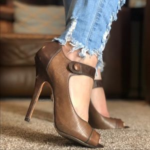 L.A.M.B. High leather heels